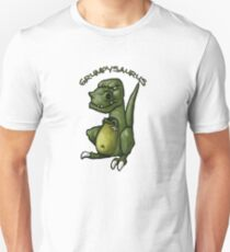 Grumpy green dinosaur in a bad mood T-Shirt