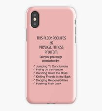 Physicality in the Workplace iPhone Case/Skin