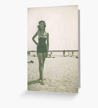JoAnn Murphy at Long Beach California Greeting Card