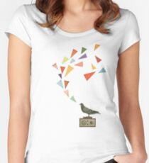 Pigeon Radio Women's Fitted Scoop T-Shirt