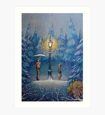 Narnia Magic Lantern Art Print