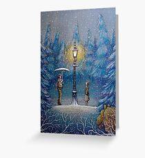 Narnia Zauberlaterne Grußkarte