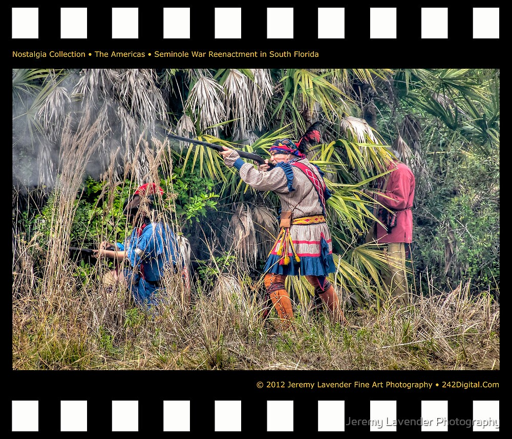 Nostalgia Collection • The Americas • Seminole War Reenactment in South Florida by Jeremy Lavender Photography