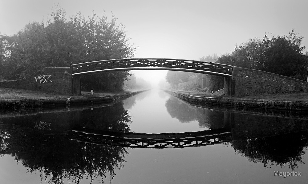 Midlands Canal, Foggy and Mono. by Maybrick