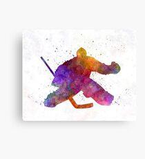 Hockey porter in watercolor Canvas Print