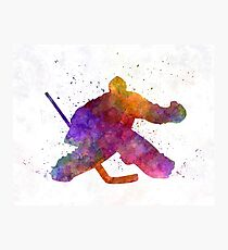 Hockey porter in watercolor Photographic Print