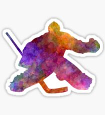 Hockey porter in watercolor Sticker