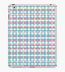 Blue and pink unique plaid iPad Case/Skin