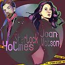 Joan and Sherlock by KanaHyde
