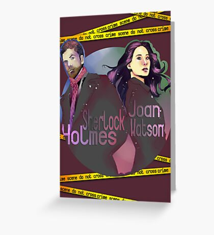 Joan and Sherlock Greeting Card