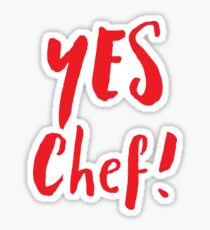 YES CHEF! Sticker