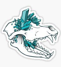 Crystal Skull - Wolf Sticker