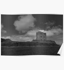 Scarborough Castle B&W Poster