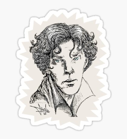 Portrait of a Consulting Detective Sticker