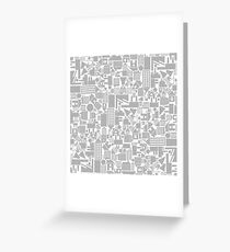 Architectural background Greeting Card