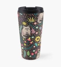 Raccoons bright pattern Travel Mug