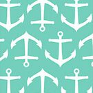 Turquoise Anchors - Iphone Case  by sullat04