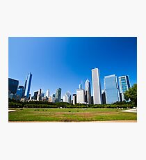 Chicago IL skyline from Grant park Photographic Print