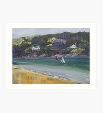 Salcombe from Millbay Beach Art Print