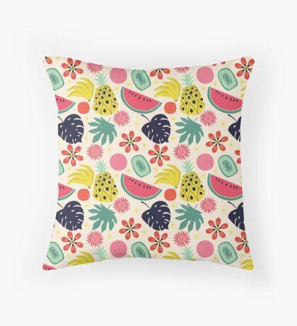 Tropicana Fruits Throw Pillow