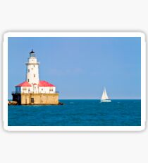 Chicago harbor lighthouse. Chicago, IL, USA Sticker