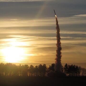 Sunset Rocket Launch by hartrockets