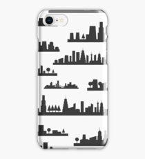 City a background iPhone Case/Skin