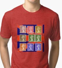 British Royal Mail postage stamps  Tri-blend T-Shirt