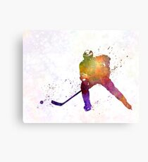 Hockey-Skater im Aquarell Metalldruck