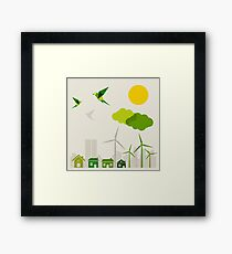 Ecology a city Framed Print
