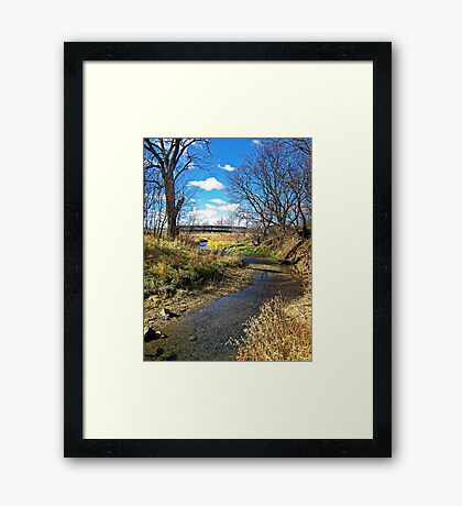 Banks of Skunk Creek Framed Print