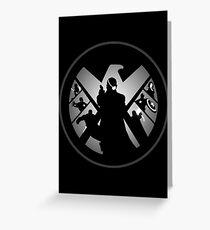 Metallic Shield Greeting Card