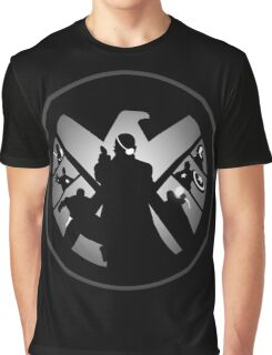 Metallic Shield Graphic T-Shirt