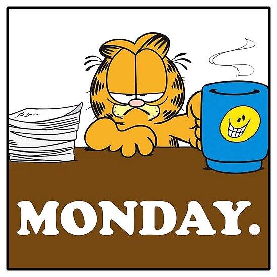 """Garfield ich hasse Montag"" Poster von BoldManners | Redbubble  I"