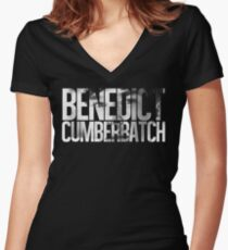 Benedict Cumberbatch Women's Fitted V-Neck T-Shirt