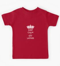 Keep Calm and Eat Latkes Hanukah Shirt Kids Tee