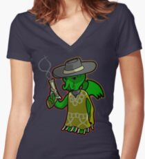 The Evil with No Name Women's Fitted V-Neck T-Shirt