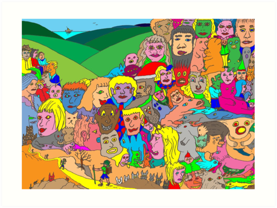 Peoplescape by David Fraser