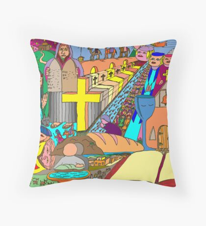 Choose your own adventure story Throw Pillow