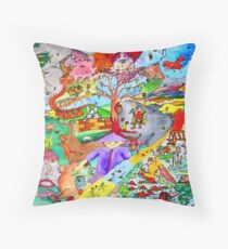 Cyclonic landscape Throw Pillow