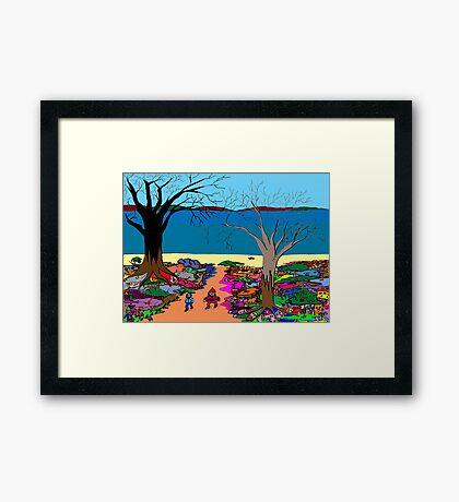 Gnomonic Landscape Framed Print