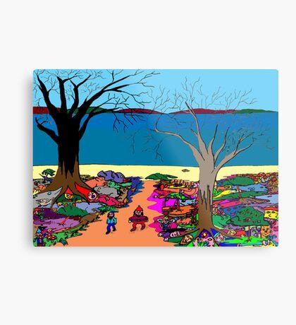 Gnomonic Landscape Metal Print