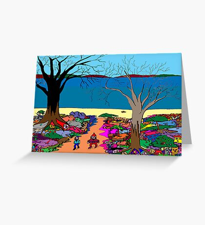 Gnomonic Landscape Greeting Card