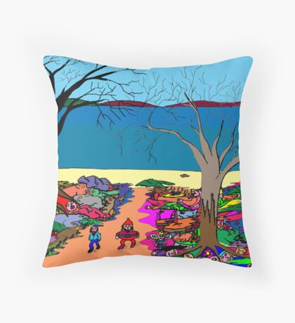 Gnomonic Landscape Throw Pillow