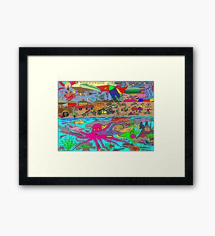 Air, Land and Sea Framed Print