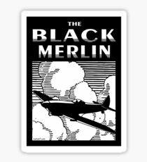 The Black Merlin Spitfire Sticker