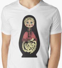 Russian doll Men's V-Neck T-Shirt
