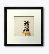 Animal Antics Framed Print
