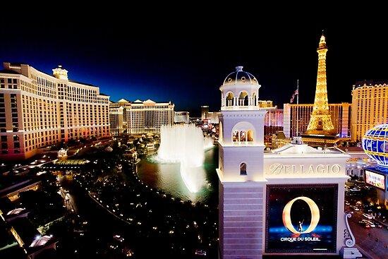 The Strip, Bellagio at night Las Vegas, Nevada, USA by PhotoStock-Isra