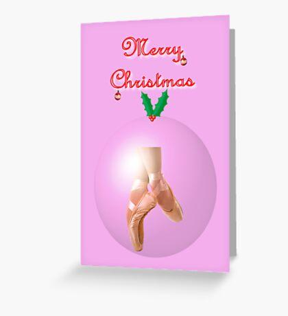 Ballet Christmas card Greeting Card